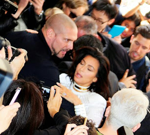 Kim Kardashian, agredida en París. París Fashion Week.