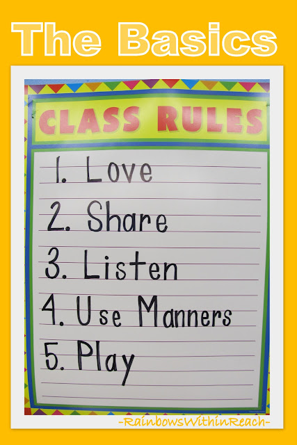 Preschool Poster of Class Rules: the Basics