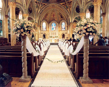 Church Aisle Decorations Wedding