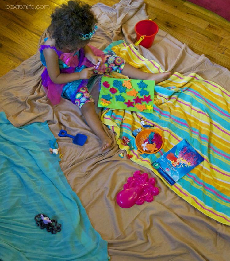 Setting up an Inside Beach Little Mermaid inspired playdate #shop
