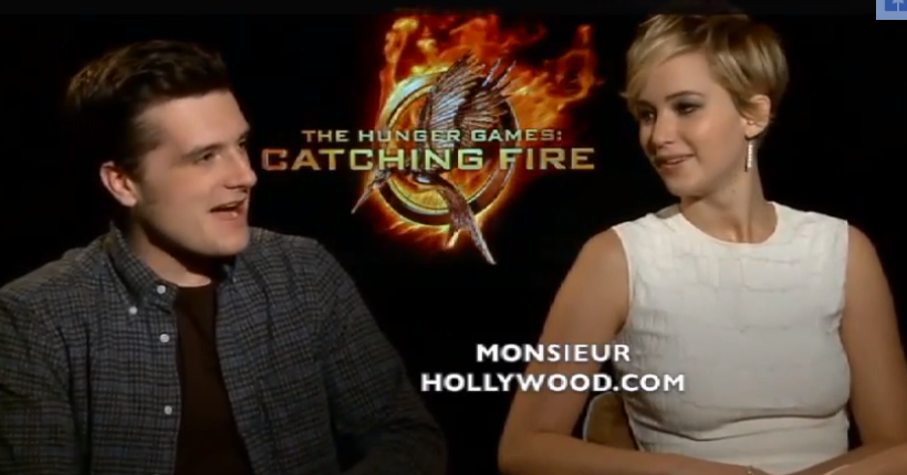 Jennifer Lawrence And Josh Hutcherson Interview Together Jennifer    Josh Hutcherson And Jennifer Lawrence Together
