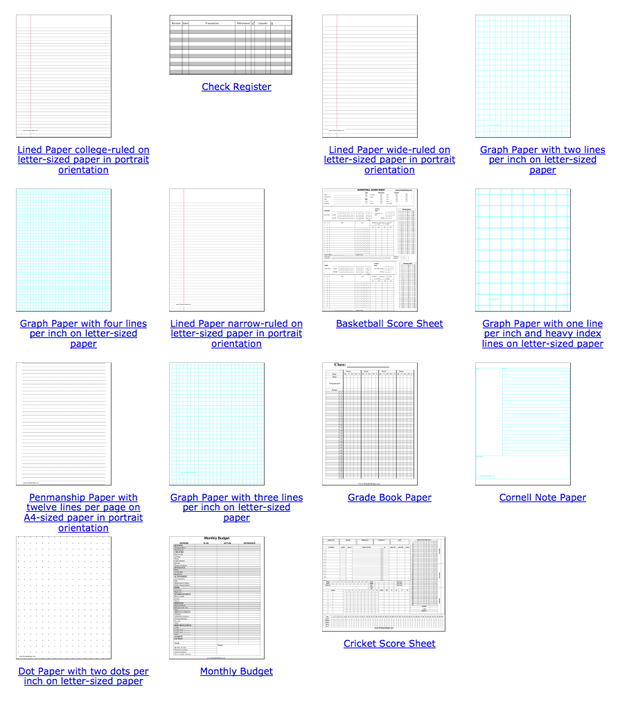 Free Printable Paper – Free Lined Paper to Print