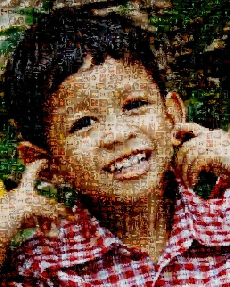 Foto Mozaik untuk hadiah ulang tahun