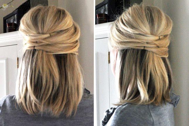 Ежедневные укладки на средние волосы фото