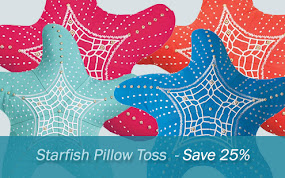 Starfish Toss Pillow Sale!