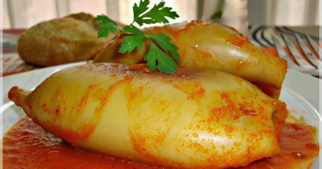 La cocina de morenisa calamares rellenos en salsa de - Chipirones rellenos en salsa de tomate ...