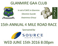 4 mile race in Glanmire...Wed 15th June
