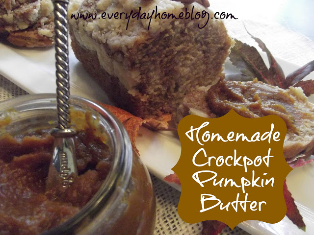 Homemade Crockpot Pumpkin Butter from The Everyday Home - via Setting for Four