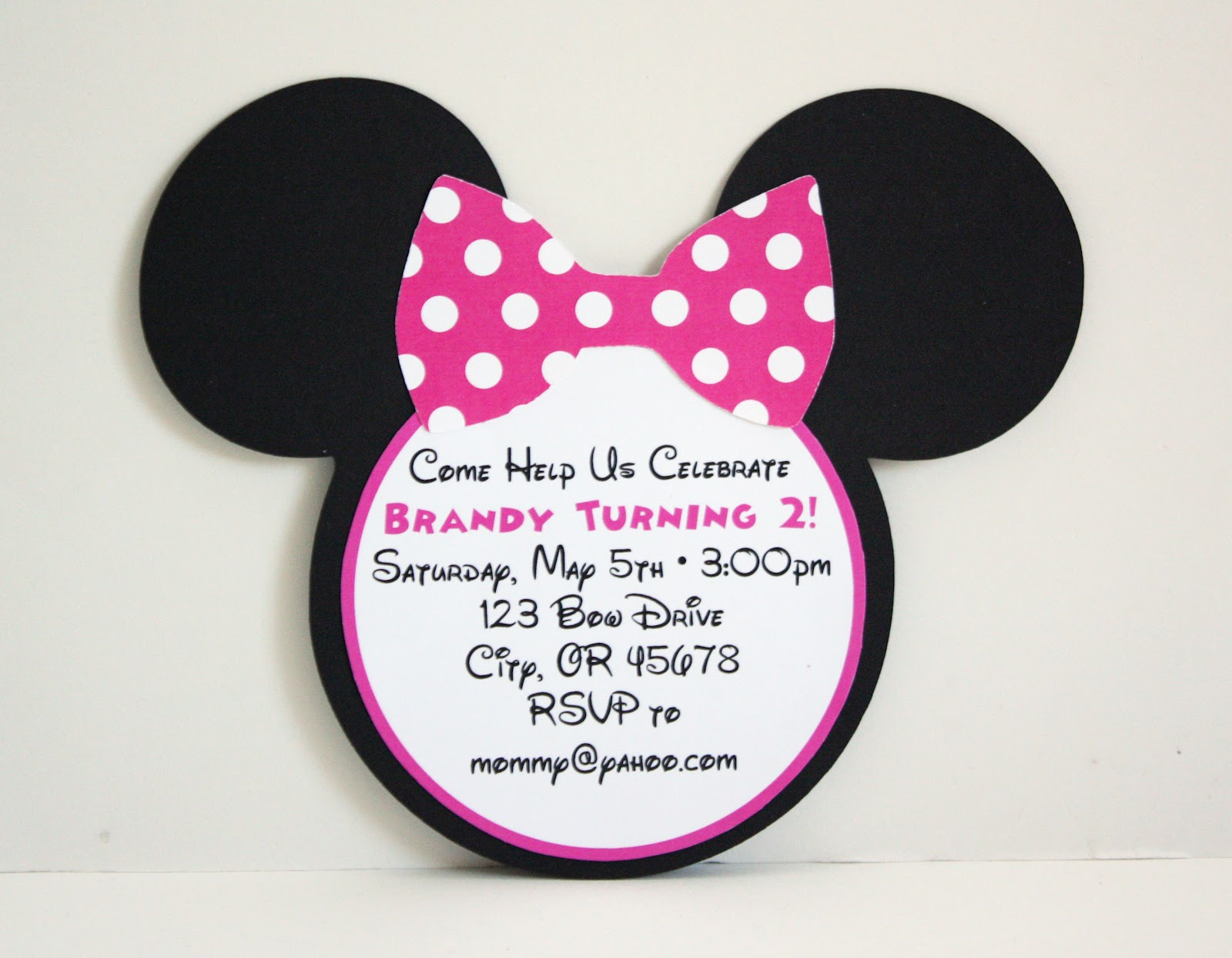 Pink Minnie Mouse Invitation Template