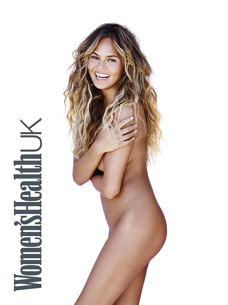 Chrissy Teigen bares it all for Women's Health UK September 2015