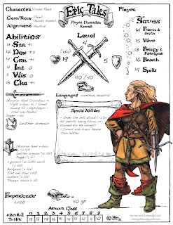 Homebrew One Page Character Sheets - Page 4