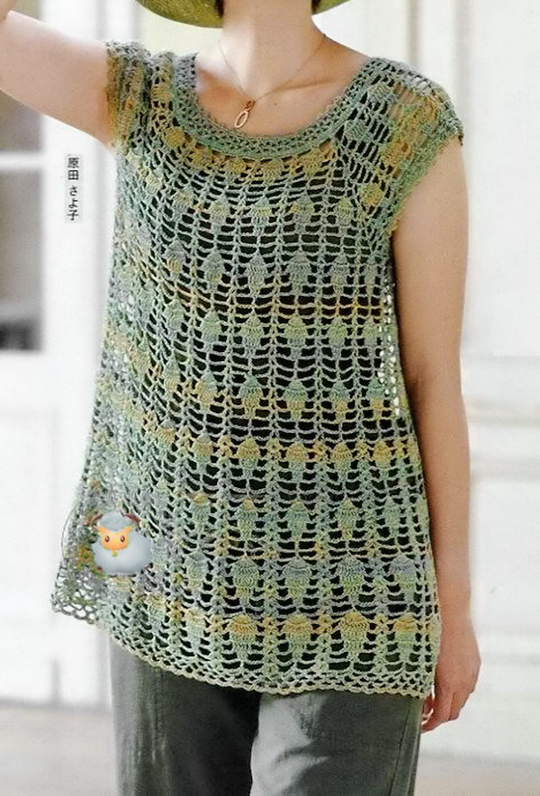 Free Crochet Pattern Tunic Vest : Crochet Sweaters: Crochet Tunic Pattern - Gorgeous Lace