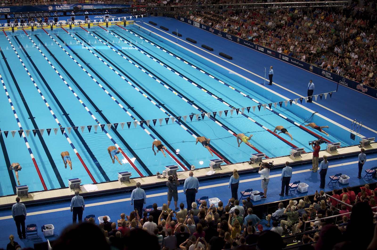 olympic swimming races 2012