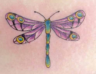 Full Color Dragonfly Tattoo