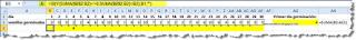 Fórmula para localizar un punto de un rango de Excel.