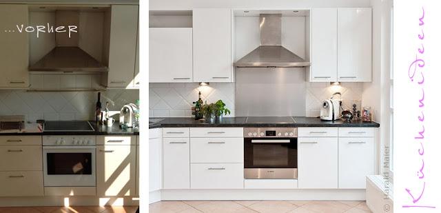 Moderne Optik durch neue Küchenfronten, mehr Stauraum durch nachträglich eingebaute Auszüge und mehr Spaß beim Kochen durch moderne Haushaltsgeräte! Küchenrenovierung lohnt!