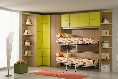 Встроенная двухъярусная кровать