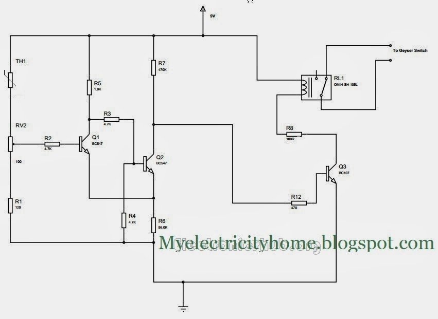 Hot Water Geyser Controller Circuit | E-CITY