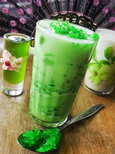 resep minuman es rumput laut, es rumput laut jelly susu segar, cara membuat es rumput laut