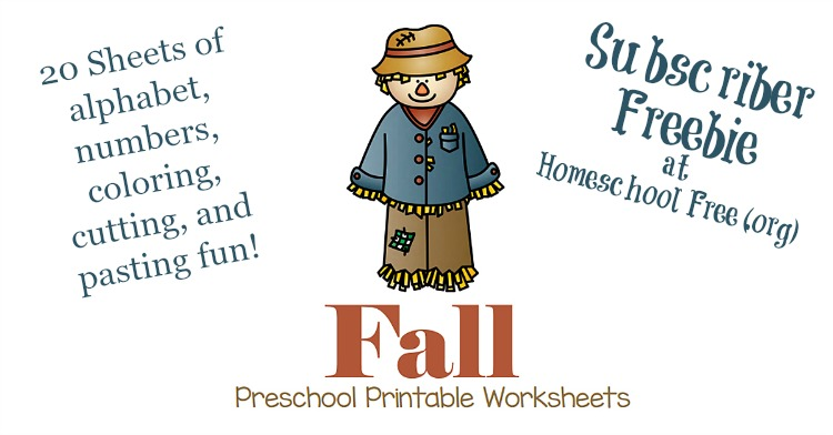 FREE Fall Preschool Printable Worksheets - Homeschool Curriculum ...