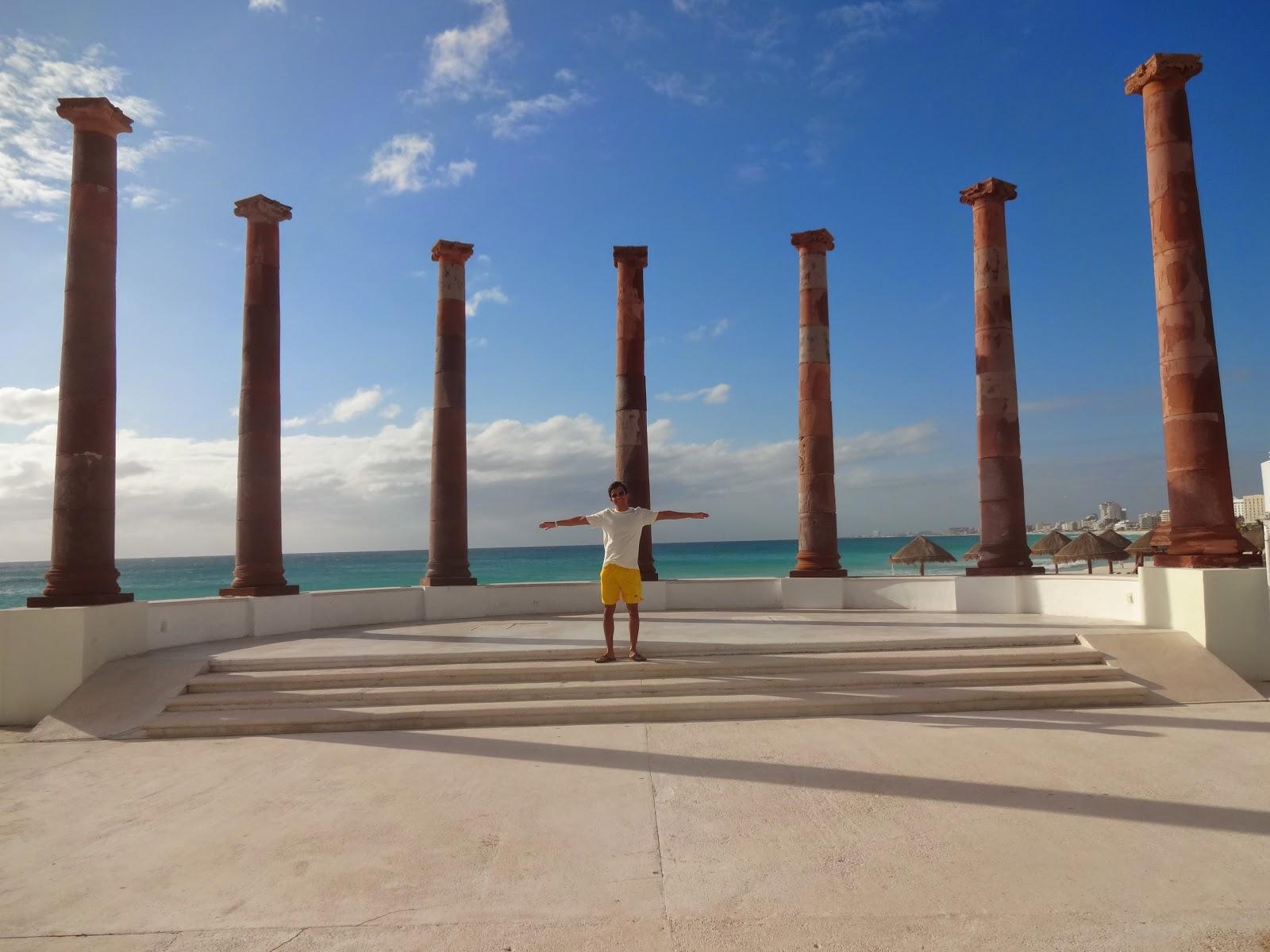 resort em Cancun - vista da praia