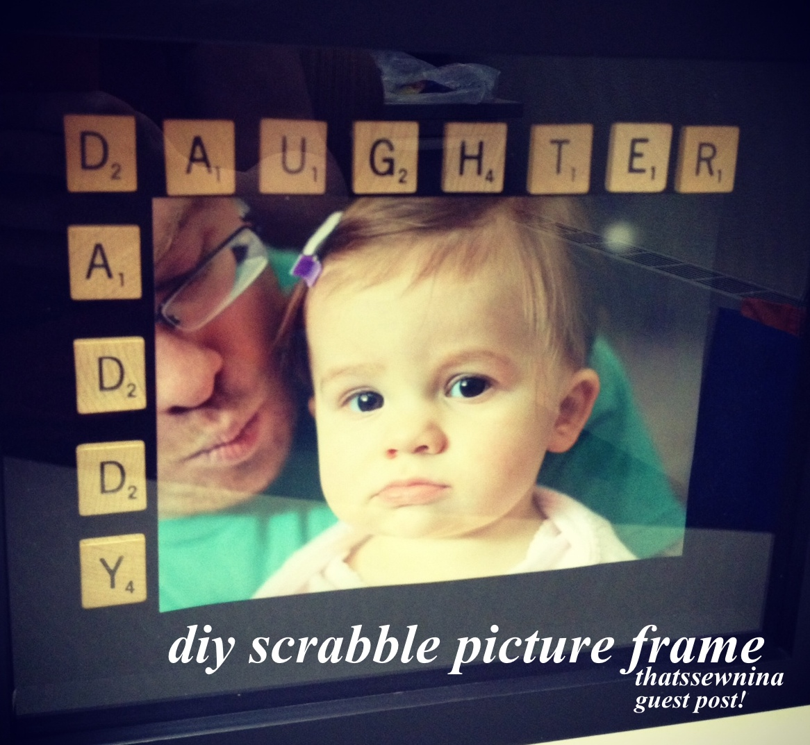 thatssewnina: DIY Scrabble Picture Frame