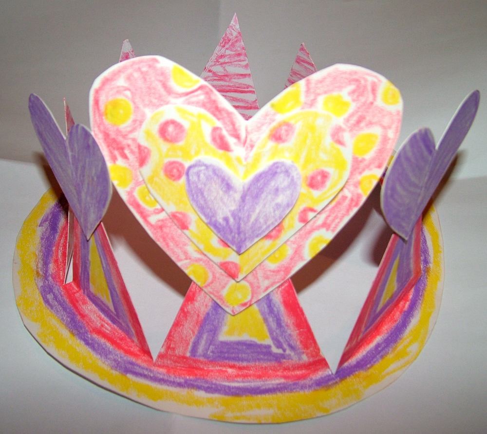 Jolieart art craft tutorial for kids sweetheart crown for Art and craft crown