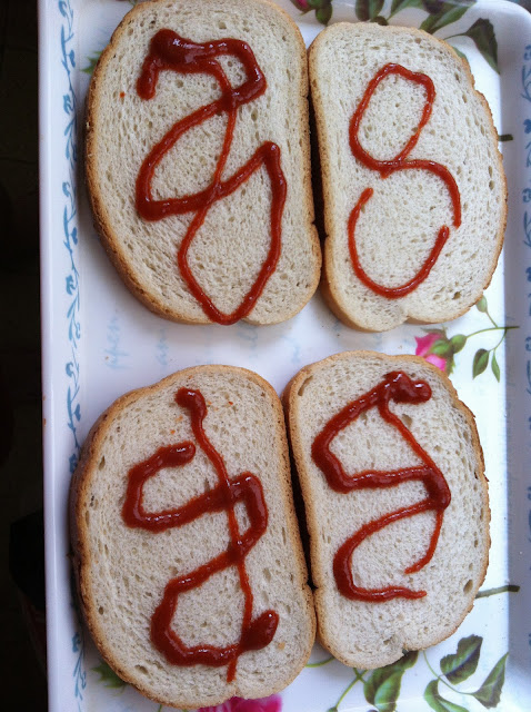 לחם עם רוטב חריף