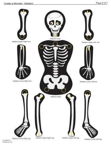 Persnickety image for skeleton printable