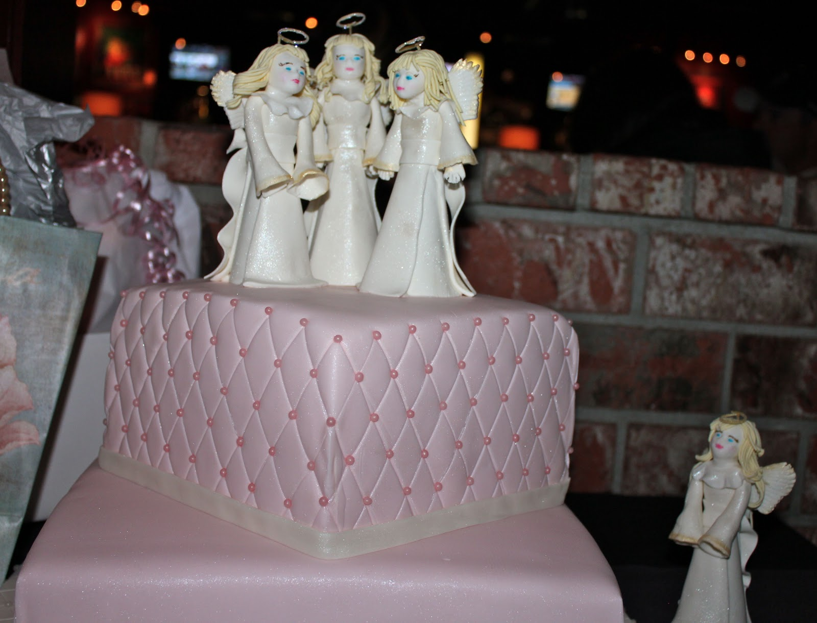 made this cake for my friend's daughter's baptism. Yes, those ...