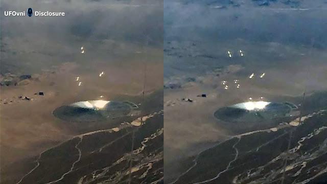 Disque inhabituel dans le désert du Nevada, des lumières et des objets dans l'air, le 30 octobre 20