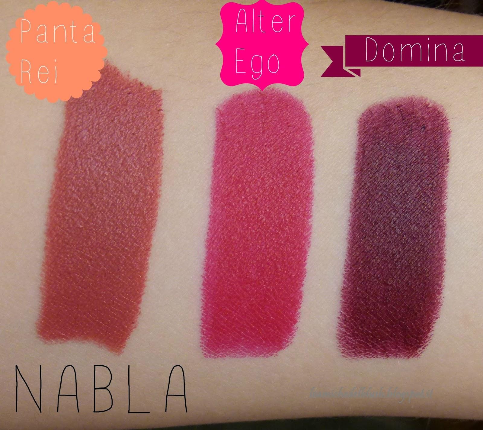 Le amiche del blush nabla cosmetics rossetti diva crime panta rei domina alter ego - Diva crime closer ...
