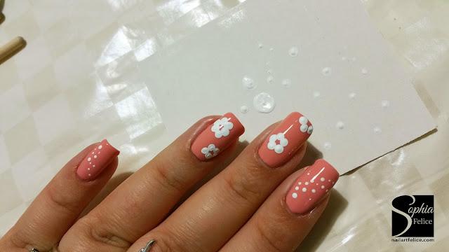 tutorial nail art fiore di primavera 03