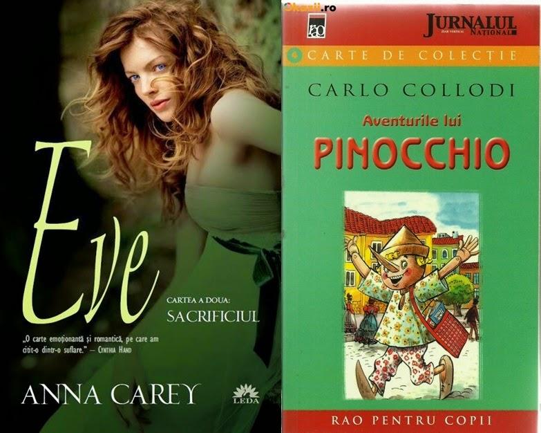 Eve de Anna Carey si Aventurile lui Pinocchio de Carlo Collodi