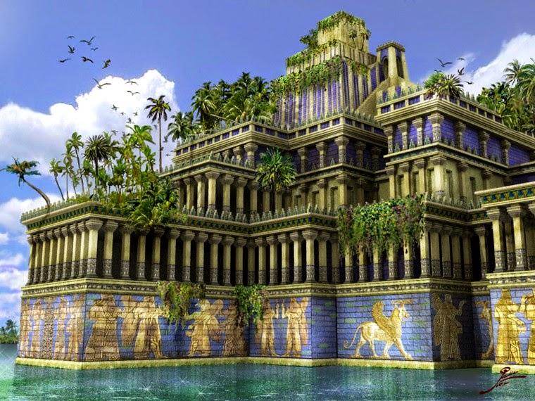 mesopotamie les jardins suspendus de babylone. Black Bedroom Furniture Sets. Home Design Ideas