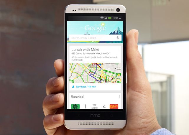 HTC One Launch Google Now Appication