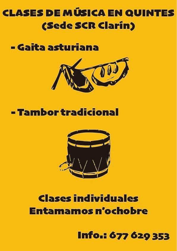 CLASES DE TAMBOR Y GAITA EN QUINTES