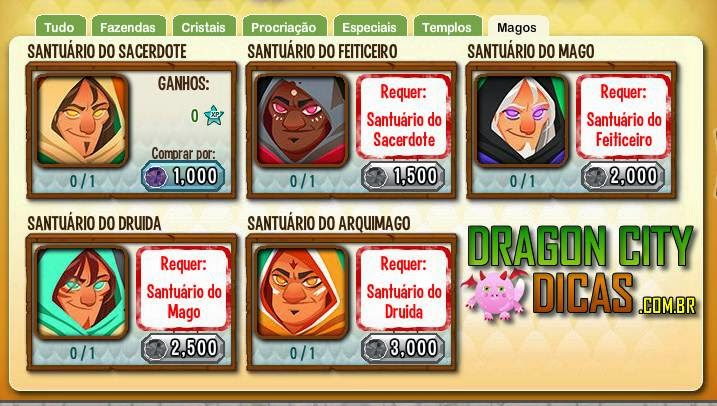 Os Feiticeiros ( Magos ) do Dragon City!