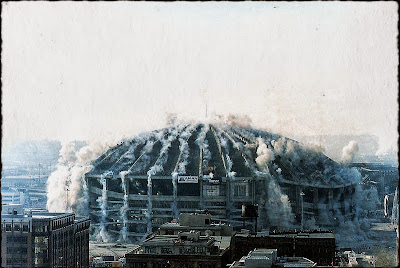 Demolition crew implodes Kingdome in Seattle