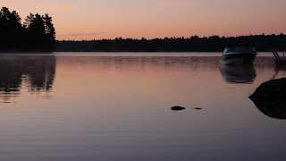 Evening light over the lake