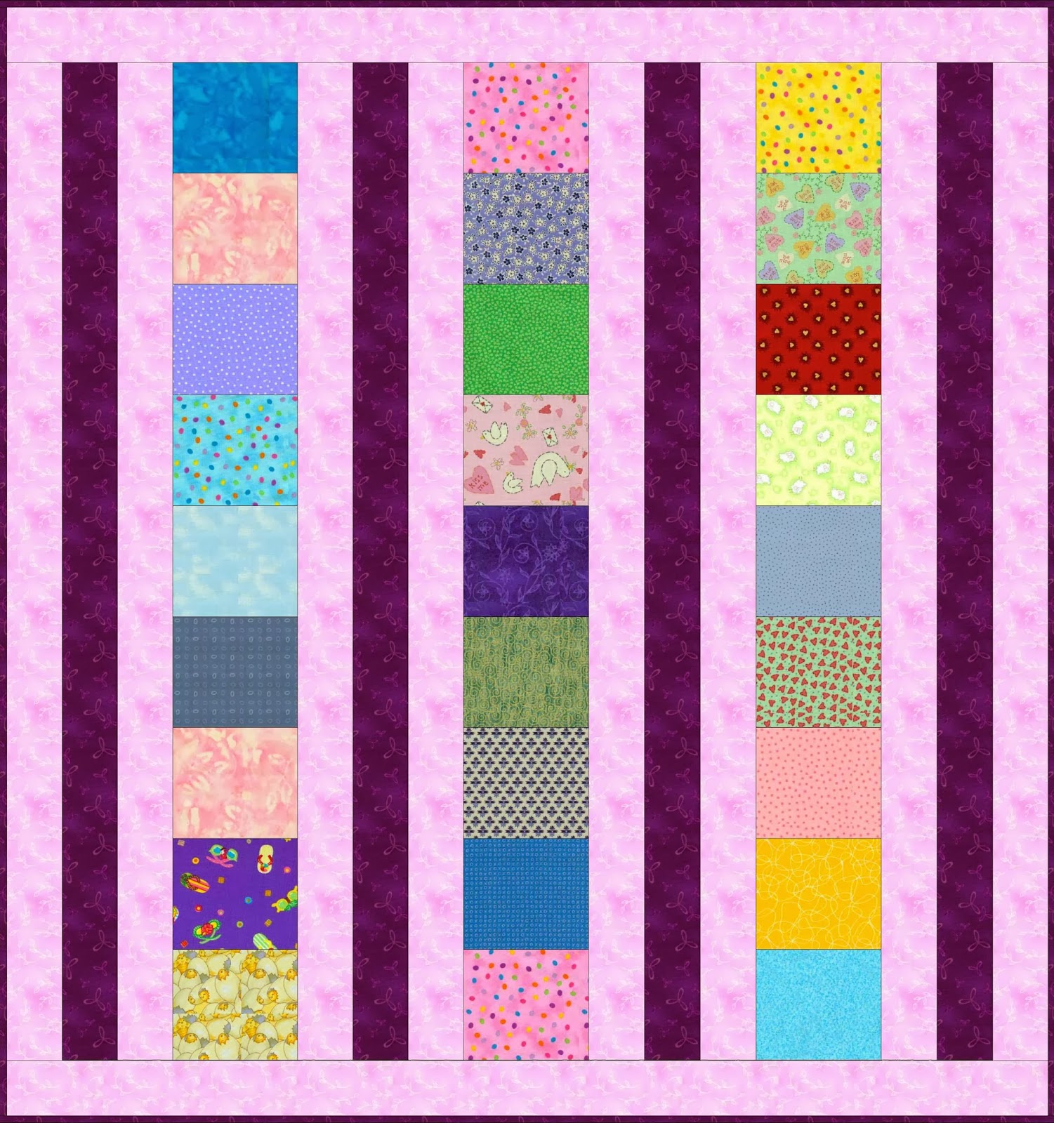 Sew In Peace Flexi Strip Baby Quilt Tutorial