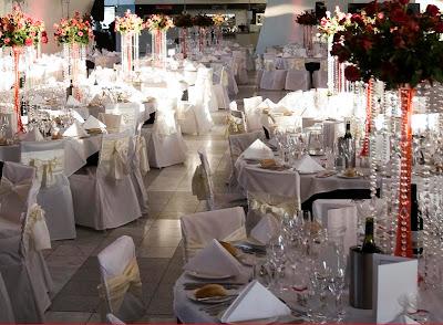 Glamorous Crystal Wedding Reception Decorations