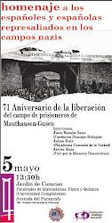 Homenaje a los españoles y españolas represaliados en los campos nazis