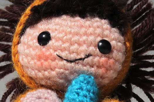 Maybe the cutest Amigurumi ever. A little boy in a lion costume. Free Amigurumi crochet pattern by The Sun and the Turtle.