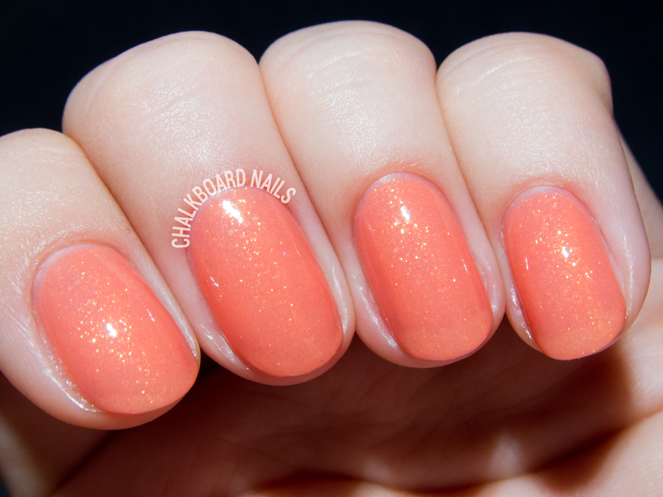 Serum No. 5 Coral-ectric via @chalkboardnails