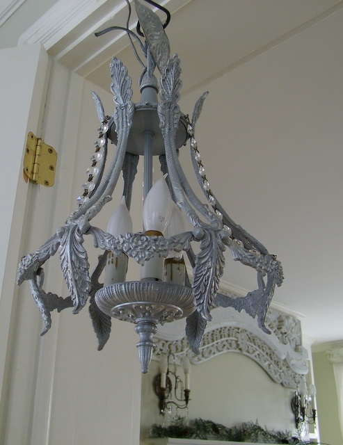 Maison decor french grey chandelier french grey chandelier aloadofball Image collections