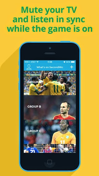 Best World Cup 2014 Apps : SecondMic for iPhone & Android