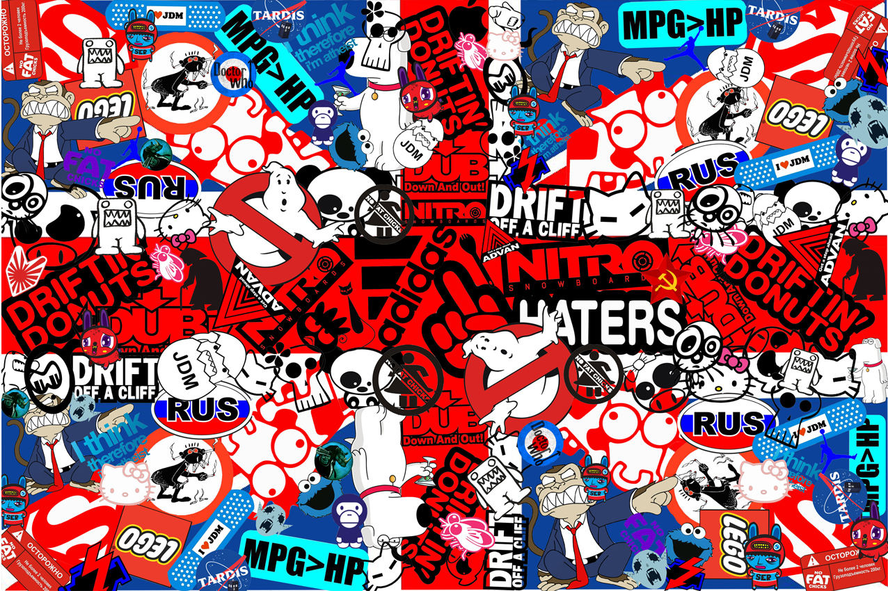 Images Of Sticker Bombing Stickerbombing Bomb Jdm Wallpaper