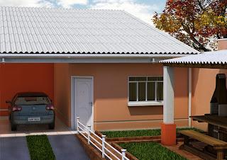 Casa de telha de amianto