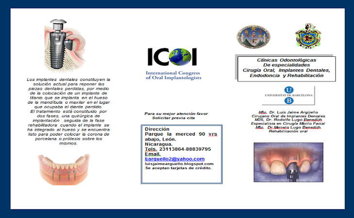 brochure clinica de implantes dentales